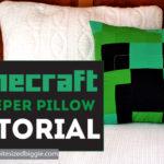 Minecraft Creeper Pillow Tutorial